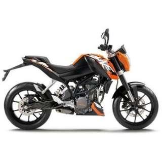 BRAND NEW KTM DUKE 200