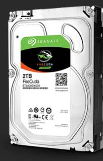 "3.5"" Computer Hard Disk Drive HDD, Seagate Firecuda, 2TB, Brand New"