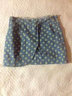 Shopaholic Polka Skirt