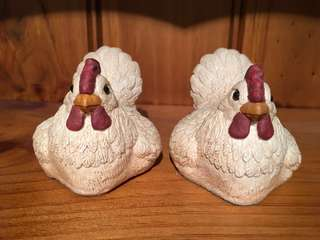 Pair of Decorative Chickens