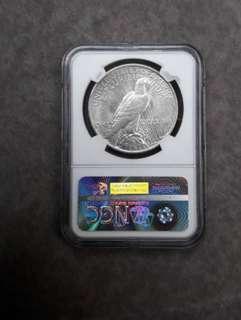 America Silver Dollars 1923 NGCMS62