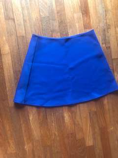 Blue A Line Skirt heavy material