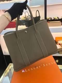 ✨全新 2018買入! 🦄Hermes✨🐘Garden Party 36 Etoupe 18 大象灰 A $26800