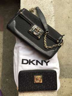 ‼️BUNDLE SALE‼️Authentic DKNY bag and wallet
