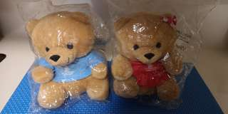 Singapore Airline couple teddy bear collectibles