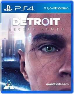 *徵* PS4 Detroit become human *徵*