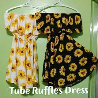 Ruffles Off Shoulder Dress
