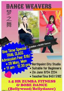 ZUMBA cum BOBE (Bollywood & Bellydance) Trial Class