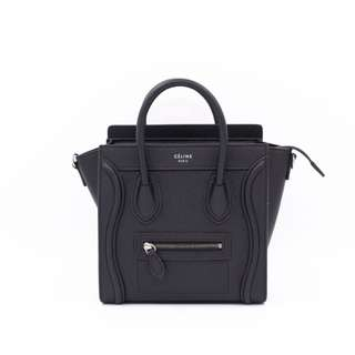 (NEW) CELINE 16824 3DRU LUGGAGE CALFSKIN NANO SHOULDER BAG SBHW 全新 手袋 黑色