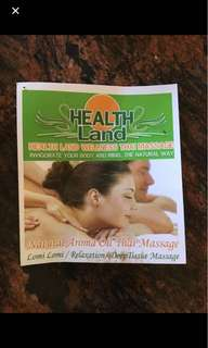 120 minute massage voucher