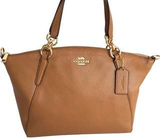 Authentic COACH SMALL KELSEY SATCHEL IN PEBBLE