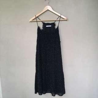 Mango black dress sequin