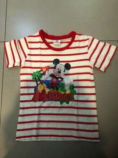 Mickey Mouse striped shirt