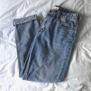 vintage light washed jeans