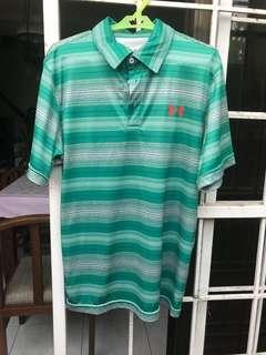 Green Stripes Sports Collared Shirt