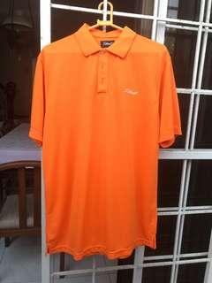 Orange Sports Collared Shirt