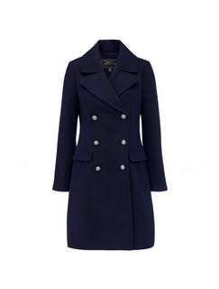 Forever New Size 8 Navy Selena Dolly Coat Jacket
