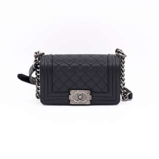 (NEW) CHANEL A67085 BOY CAVIAR SHOULDER BAG SBHW 全新 手袋 黑色