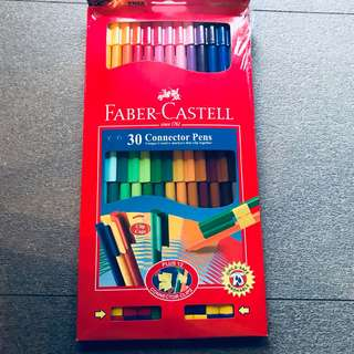 Faber Castell Connector Pens 30 Pack Multicoloured