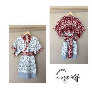 Made to order batik kimono dress