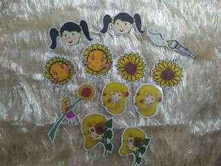 Sticker Flakes Sunflower