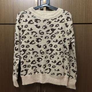 豹紋針織毛衣