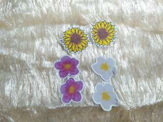 Sticker Flakes: flowers