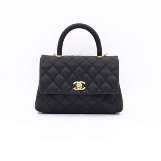 (NEW) CH A92990 CAVIAR MINI COCO SHOULDER BAG GHW 全新 手袋 黑色 金扣