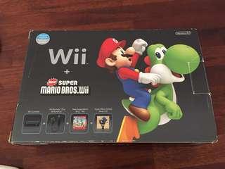 Wii + Super Mario Bros with games