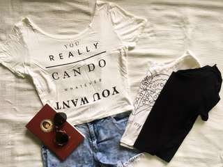 Bundle C (3 Cropped tops)