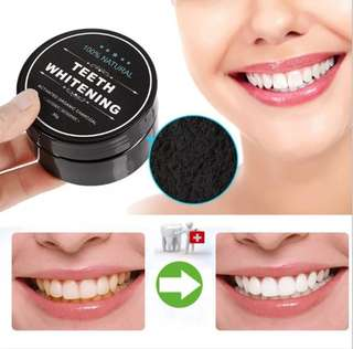 Instock!! Teeth Whitening Organic Bamboo Charcoal Powder 100% Natural Remove Stain
