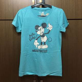 LATIV 米奇 Mickey 圖案上衣 短袖 L