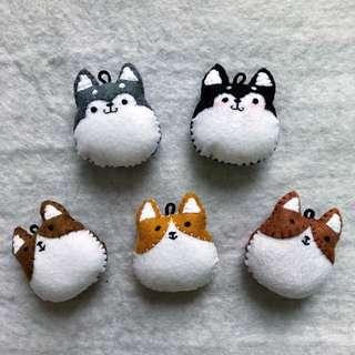 Husky . Corgi(handmade 100%)