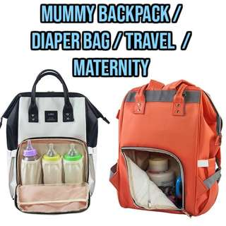 🔥FREE DELIVERY to DOORSTEP🔥 Mummy Baby Backpack / Diaper Bag / Travel  / Maternity / Nappy