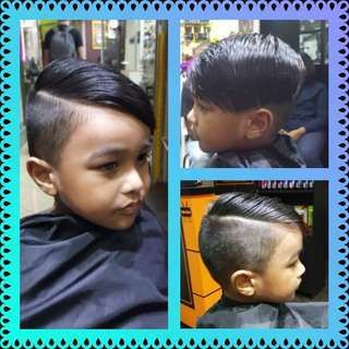 Hair cut with lining