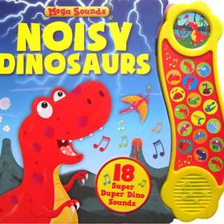 Buku Anak MEGA SOUNDS NOISY DINOSAURS BOARD BOOK WITH 18 SUPER DUPER DINO SOUNDS