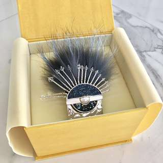 Fendi Swarovski-encrusted Round Eye Fox Fur Bracelet