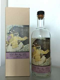 Empty whisky bottle