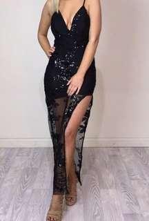 Black sequin formal dress/gown