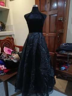 New! Black Velvet Ball Gown