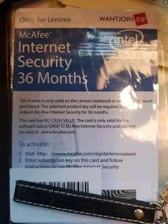 Anti virus McAfee 3 years Internet security