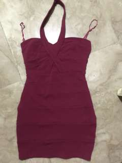 Maroon Dress