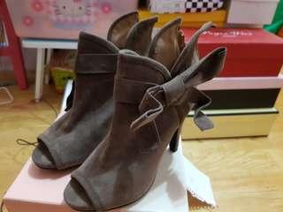 🚚 蝴蝶結露趾踝靴