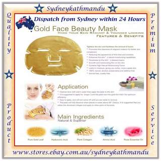 GOLD BIO-COLLAGEN Facial Face Masks Skin Care Spa Anti-Aging Hydrating Mask