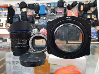Used item LAOW 12mm f2.8 (canon)+Nisi 100 holder system+meike Emount-EF rm3400