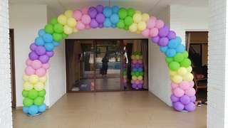 Balloon arch for birthday