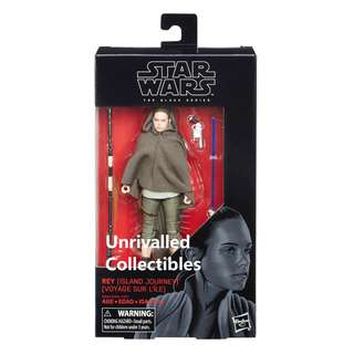 [In hand] Hasbro Star Wars The Black Series 6 inch - Rey (Island Journey) + DJ (Canto Bight)