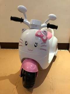 兒童電動摩托車三輪車-粉紅貓