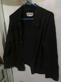 Black stretchable cardigan