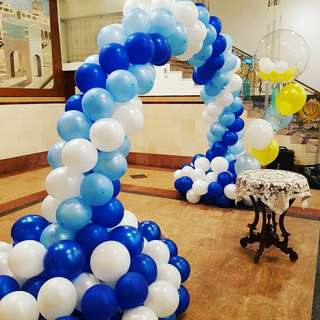 Balloon arch for baby shower events entrance